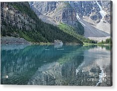 Acrylic Print featuring the photograph Lake Moraine by Patricia Hofmeester