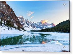 Lake Moraine Sunset Acrylic Print