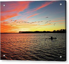 Lake Murray Fisherman Acrylic Print
