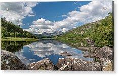 Lake Mymbyr Rocks Acrylic Print by Adrian Evans