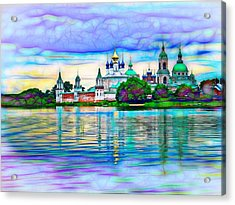 Lake Nero Monastery - Russia Acrylic Print by The  Candy Trail
