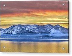 Lake Of Gold Acrylic Print