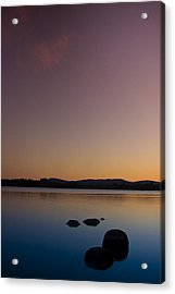 Lake Of Menteith By Sunset Acrylic Print