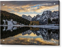 Lake Of Misurina Acrylic Print