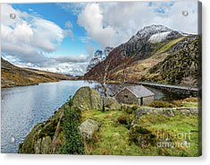 Lake Ogwen And Tryfan Mountain Acrylic Print