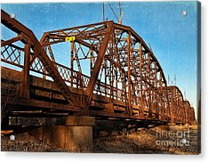 Lake Overholser Bridge Acrylic Print by Lana Trussell
