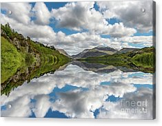 Lake Padarn Snowdonia Acrylic Print by Adrian Evans
