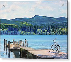 Lake Padden-view From The Memorial Bench Of Mildred Hottle And Jeffery Myers Acrylic Print