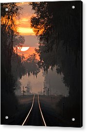 Lake Park Sunrise Acrylic Print by Dan Wells