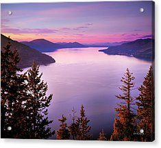 Lake Pend Oreille 2 Acrylic Print by Leland D Howard