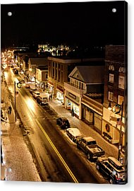 Acrylic Print featuring the photograph Lake Placid New York - Main Street by Brendan Reals