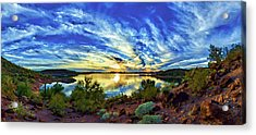 Lake Pleasant Sunset 3 Acrylic Print