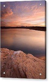 Lake Powell Dawn Acrylic Print by Mike  Dawson