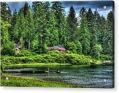 Lake Quinault 3 Acrylic Print by Richard J Cassato