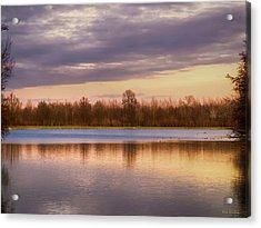 Lake Reflection Acrylic Print by Wim Lanclus
