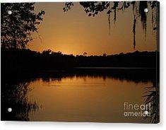 Lake Reflections Acrylic Print by David Lee Thompson