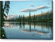 Lake Reflections Acrylic Print by Myrna Bradshaw