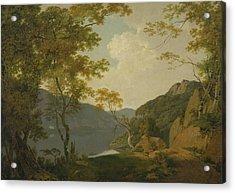 Lake Scene Acrylic Print by Joseph Wright