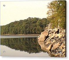Lake Scranton Reflections Acrylic Print by Daniel Henning