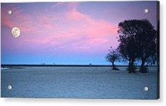 Lake Shore Evening Acrylic Print by Donald Schwartz