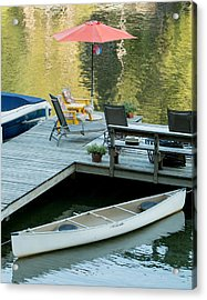 Lake-side Dock Acrylic Print