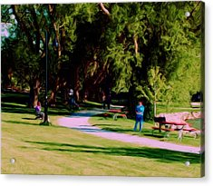 Lake Side Park Acrylic Print