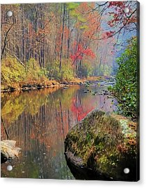 Acrylic Print featuring the painting Chattooga Paradise by Steven Richardson