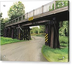 Lake St. Rr Overpass Acrylic Print