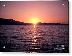 Lake Sunset 8pm Acrylic Print