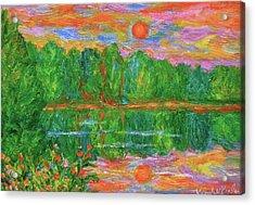 Lake Sunset Acrylic Print by Kendall Kessler