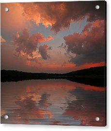 Lake Sunset Acrylic Print by Rick Friedle