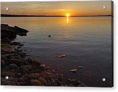Lake Sunset Acrylic Print by Rob Graham