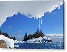 Lake Superior Ice Frame Acrylic Print