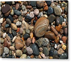 Lake Superior Stones Acrylic Print by Don Newsom
