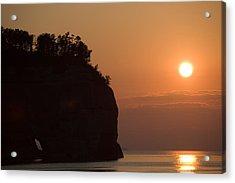 Lake Superior Sunset Acrylic Print by Sebastian Musial