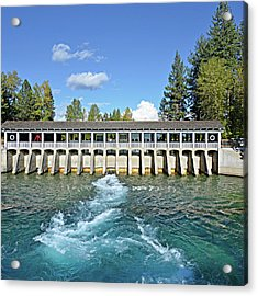 Acrylic Print featuring the photograph Lake Tahoe Dam by David Lawson