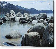 Acrylic Print featuring the photograph Lake Tahoe Rocks by Dan Whittemore