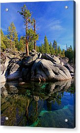 Lake Tahoe Rocks Acrylic Print