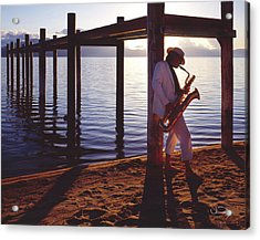 Lake Tahoe Sax Acrylic Print by Vance Fox