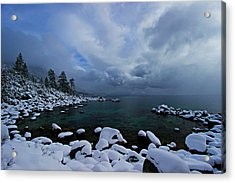 Lake Tahoe Snow Day Acrylic Print