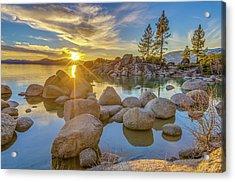 Lake Tahoe Spring Starburst Acrylic Print