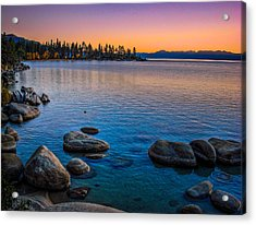 Lake Tahoe State Park Fall Sunset Acrylic Print