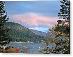 Lake Tahoe Sunset Acrylic Print by Linda Sramek