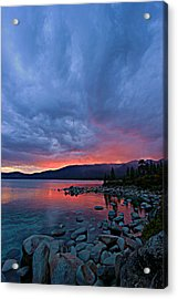 Lake Tahoe Sunset Portrait 2 Acrylic Print