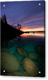 Lake Tahoe Sunset Portrait Acrylic Print