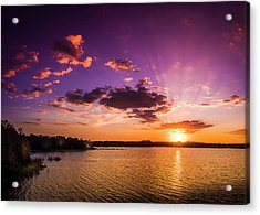Lake Tarpon Sunset Acrylic Print by Marvin Spates