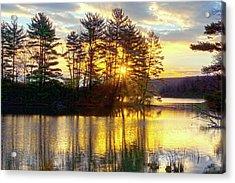 Lake Tiorati Golden Sunrise Acrylic Print