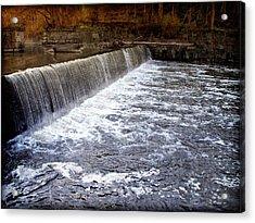 Lake To Lake Waterfall Acrylic Print by Joan  Minchak