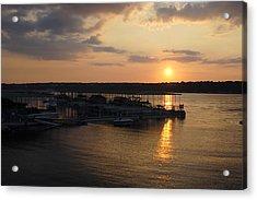Lake Travis Sunset Over Carlos N Charlies Acrylic Print by David Thompson