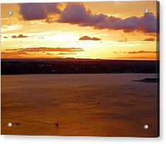 Lake Travis Sunset Acrylic Print by Tim Mattox